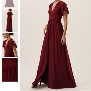 BHLDN Mendoza dress. Bordeaux Color